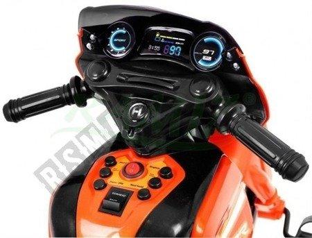 Pojazd Motorek/Rowerek/Pchaczyk kolor pomarańczowy