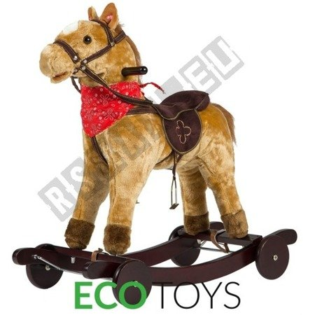 Interactive rocking horse Brown