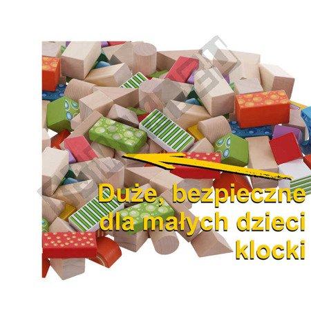 Set of 100 wooden blocks for children ECOTOYS