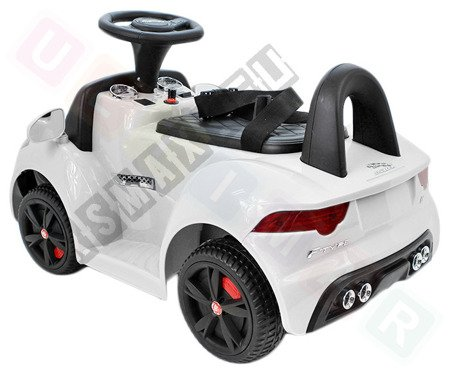 Vehicle battery Jaguar F-Type white