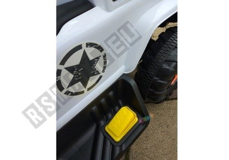 Vehicle battery with pusher white