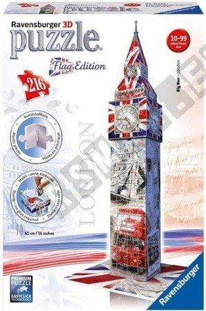 3D Big Ben Flag Edition Puzzle 216 elements