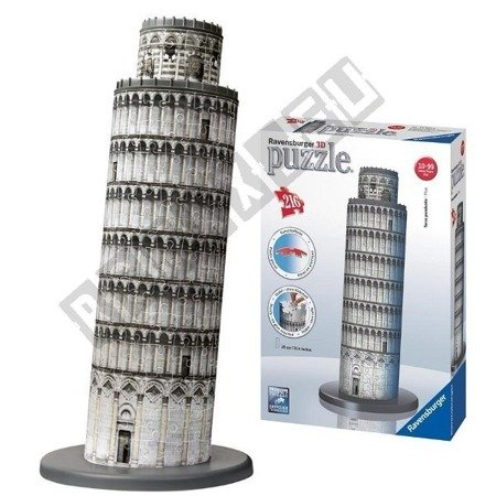 3D spatial puzzle curve tower 216 elements