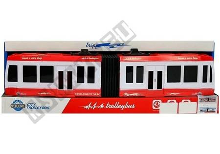 Articulated Bus with Friction Drive Red
