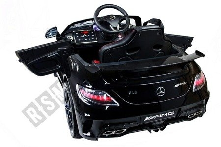 Auto battery Mercedes SLS AMG black lacquered