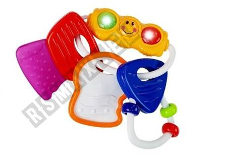 Baby Rattle Car Keys with Lights & Teether