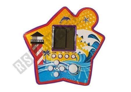 Brick Game Electronic Tetris Portable Star Purple