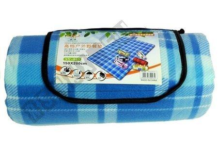 Checkered Picnic Blanket 150x200 Blue