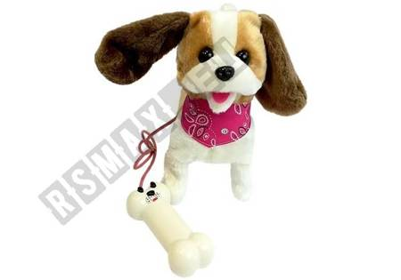 Dog on a Leash Interactive Dog White-Brown