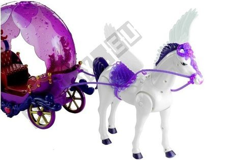 Doll with a Walking Pegasus and Coach Purple Sounds