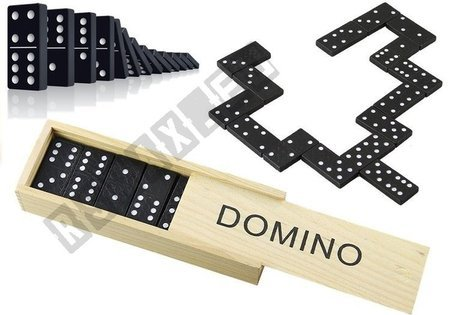 Domino Dominoes Dominos In A Wooden Box 28PCS