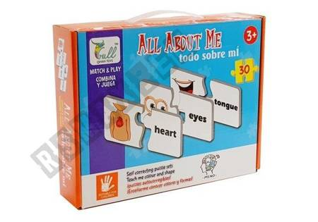Educational Puzzle Learning Body Parts 30 Elements