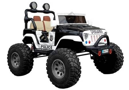 Electric Ride-On Car Jeep SX1719 4x4 Black Police