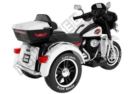 Electric Ride-On Motorbike SX138 White