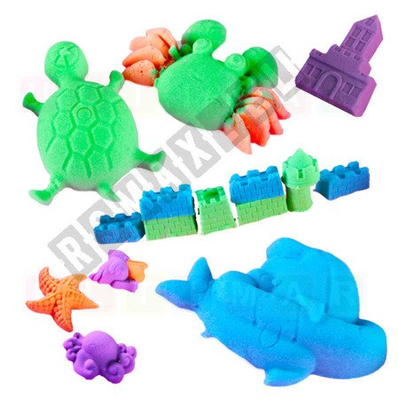 Inflatable sandbox, sand kinetic 2 kg