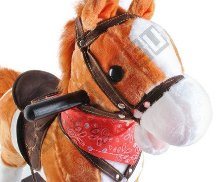 Interactive horse at the poles light brown K6027 !