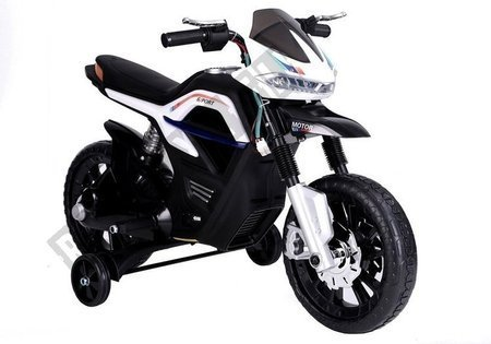 JT5158 Electric Ride-On Motorbike - White