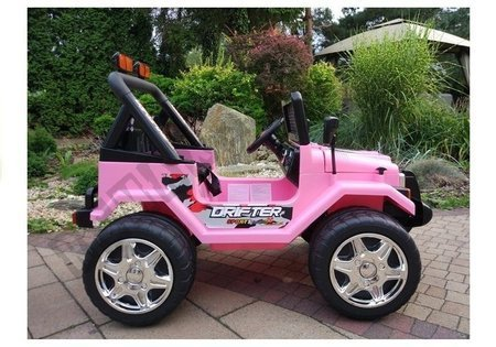 Jeep Raptor Pink - Electric Ride On Car