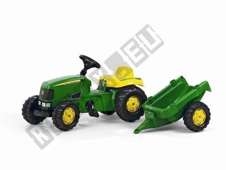 John Deere Kid pedal tractor green trailer