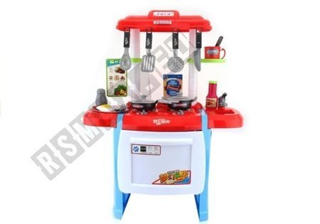 Kids Roleplay Kitchen Set With Accessories Grocery Knitlery Lights Sounds