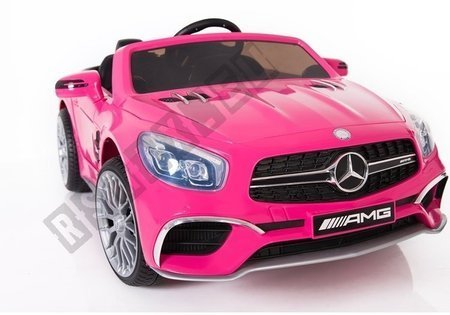 Mercedes SL65 Electric Ride-On Car LCD Pink