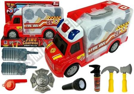 Portable Car with Accessories Fire Truck