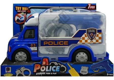 Portable Car with Accessories Police Car