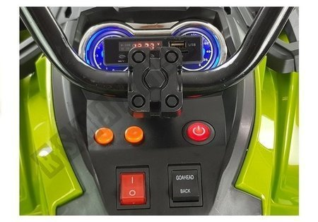 Quad BDM0906 Electric Ride On Vehicle Pumped Wheels - Green
