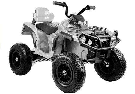 Quad BDM0906 Electric Ride On Vehicle Pumped Wheels - White