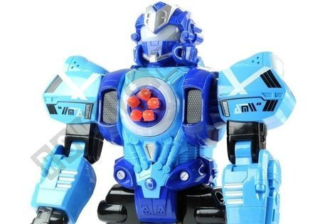 R/C Robot Radio Control Shoots Missiles from Chest