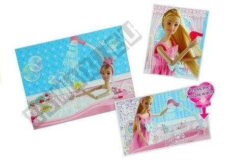 Set Doll in Bath Bathroom + Accessories