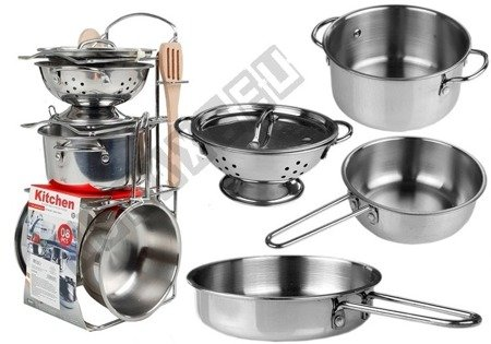 Stainless Steel Pots and Pans Miniature 8 pcs