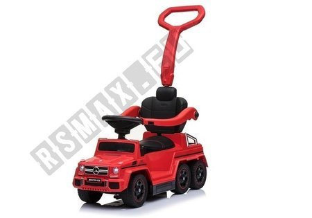 Toddlers Ride On Push Along with Parent Handle Mercedes 6x6 SX1838 Red