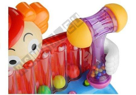 Toy Baby Piano Clown Organ Rattles Balls Hammer