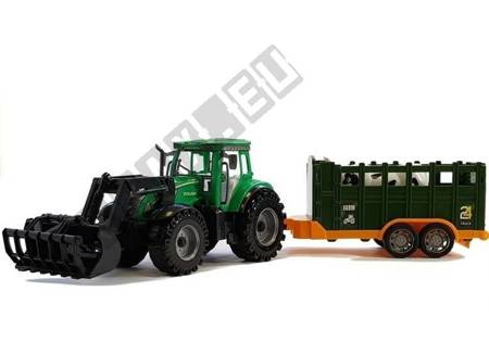 Tractor with trailer Green Cow