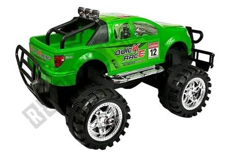 Vehicle Set Monster Truck with a Tow Truck Green