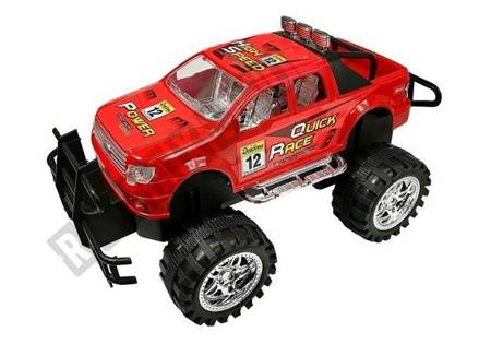 Vehicle Set Monster Truck with a Tow Truck Red