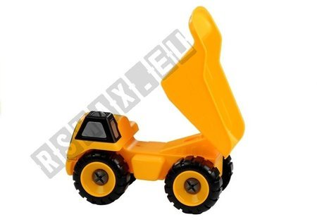 Yellow Trolley Truck For Unscrewing for Little Car Mechanic
