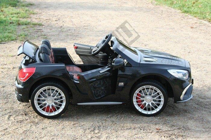 kinderauto mercedes benz sl65 amg coupe elektroauto kinderfahrzeug ledersitz schwarz. Black Bedroom Furniture Sets. Home Design Ideas