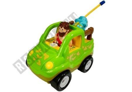 Auto betoniarka z kierownicą zielona