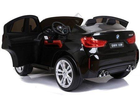 Elektroauto BMW X6 Schwarz Kinderfahrzeug Ledersitz weiche EVA-Reifen 2x45W Auto
