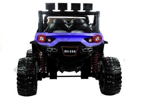 Elektroauto XJL-588 Blau EVA-Reifen Ledersitz 4x45W LED Frontscheinwerfer