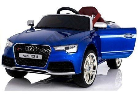 Elektroauto für Kinder Audi RS Blau Lackiert EVA-Reifen Ledersitz 2.4G RC Auto