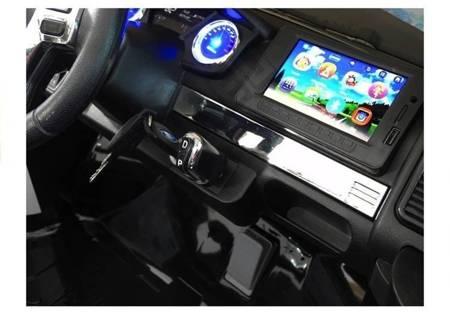 Elektroauto für Kinder Ford Ranger EVA-Reifen Schwarz lackiert 4x4 2.4G LCD