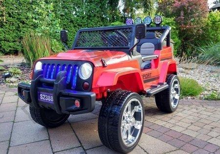Elektroauto für Kinder S2388 Off-Road Jeep Rot 2.4G EVA-Reifen 2x45W