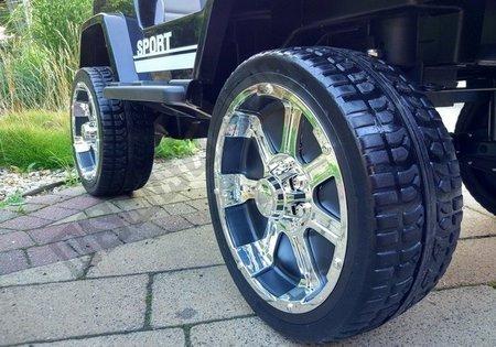 Elektroauto für Kinder S2388 Off-Road Jeep Schwarz 2.4G EVA-Reifen Felgen Auto