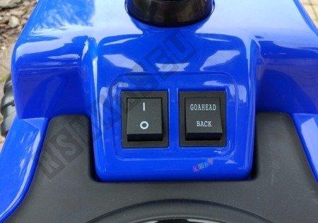 Fahrzeugbatterie mit Drücker blau