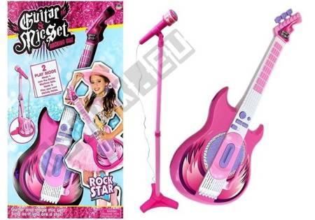 Gitarre mit Mikrofon auf einem Stand Rock Star