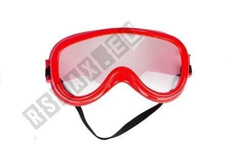 Große realistische Kettensäge + Schutzbrille