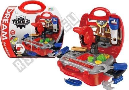 Handwerker-Set für Kinder im Koffer Mechanikerset Werkzeug Spielzeug